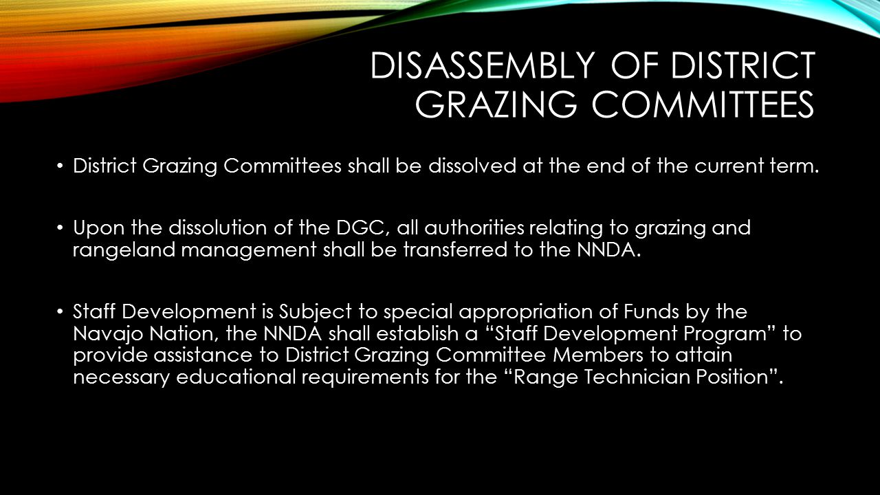 Disassembly of District Grazing Committees