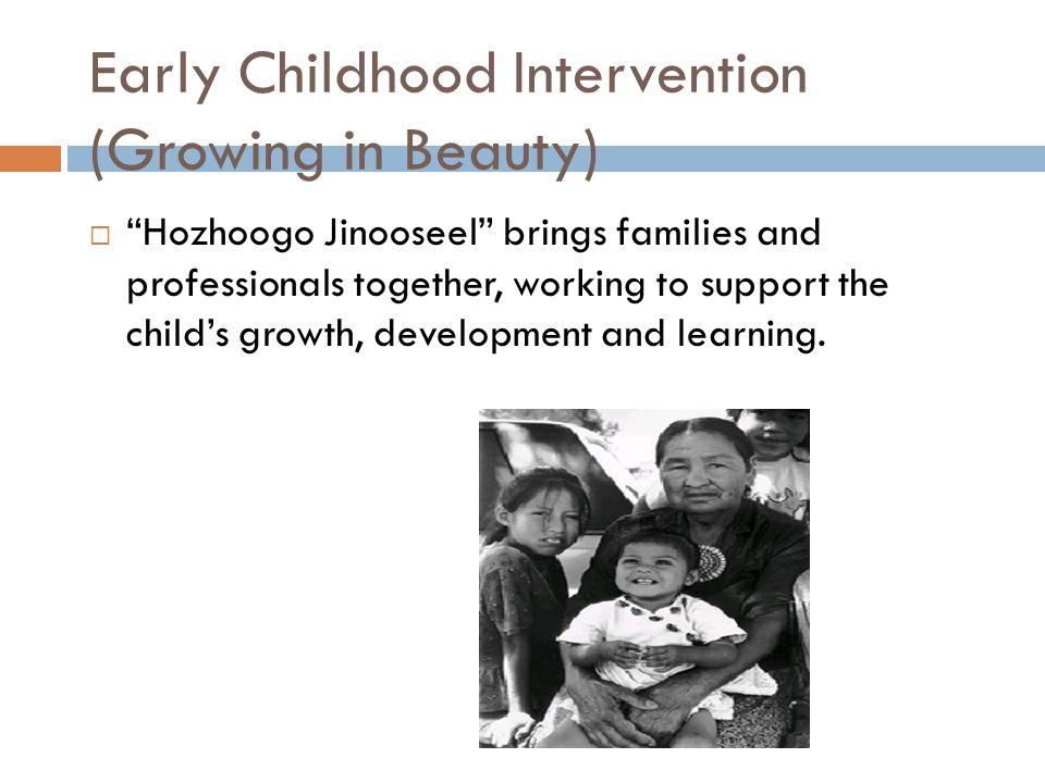 Early Childhood Intervention (Growing in Beauty)