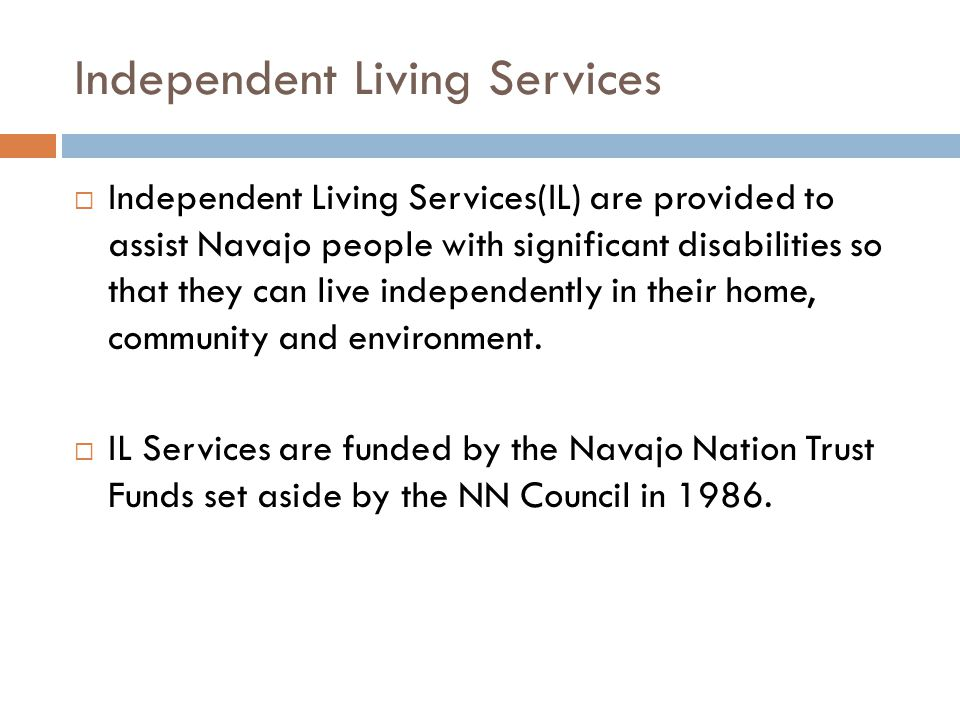 Independent Living Services