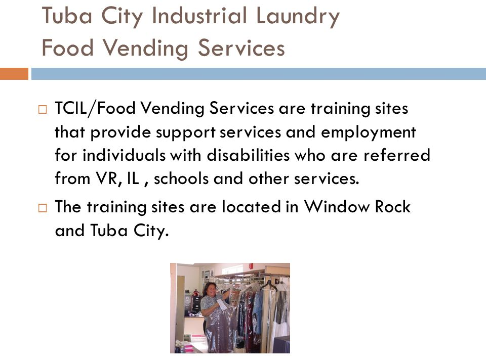 Tuba City Industrial Laundry Food Vending Services