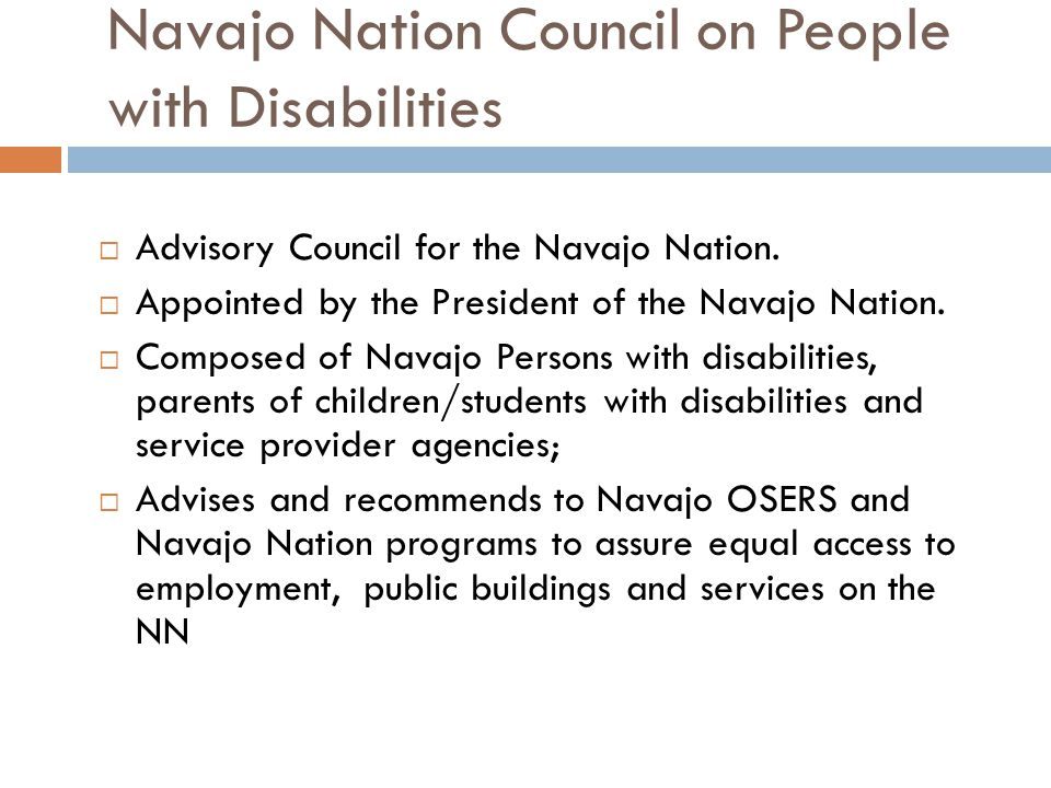 Navajo Nation Council on People with Disabilities