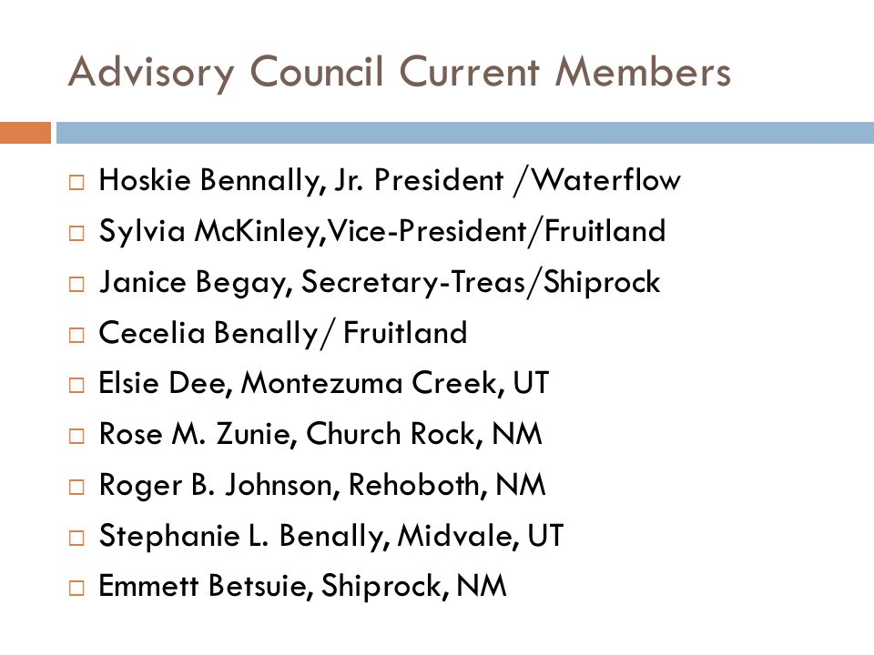 Advisory Council Current Members