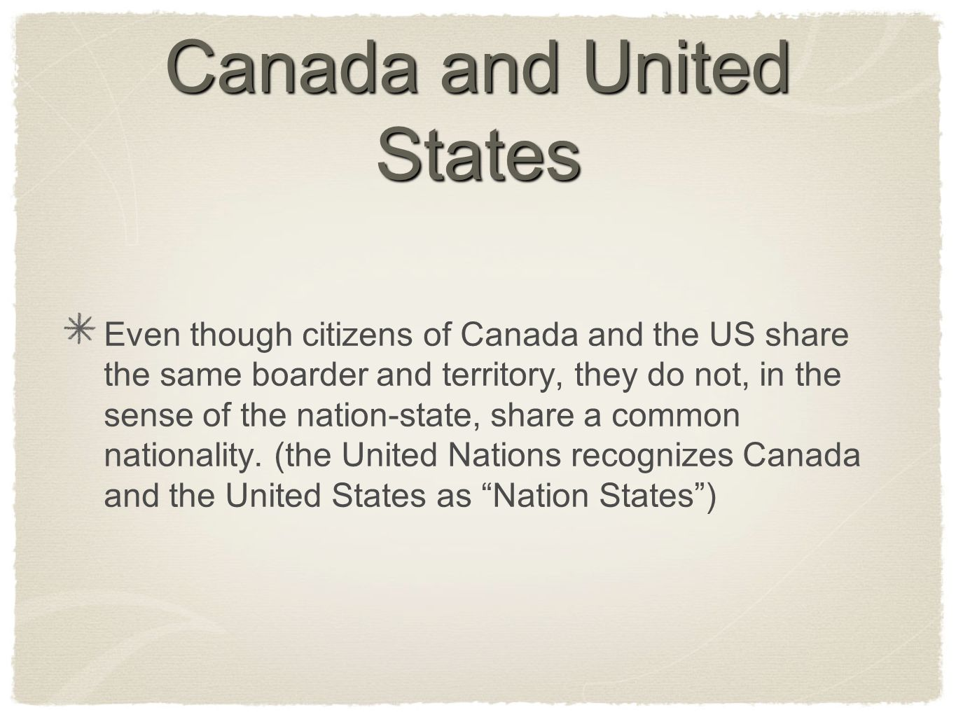 Canada and United States