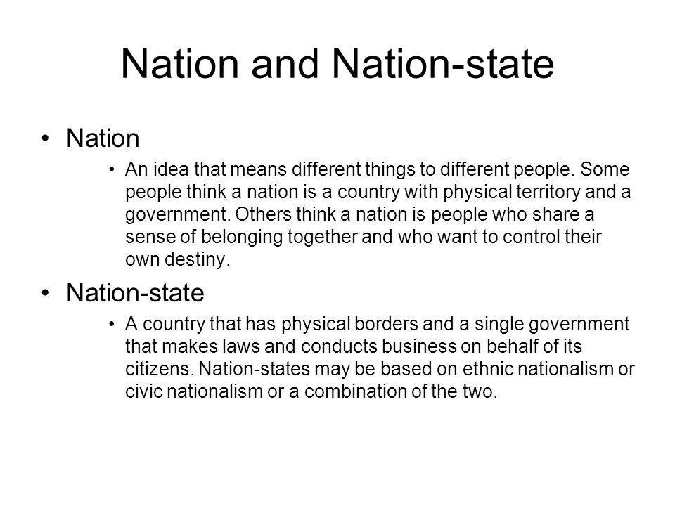 Nation and Nation-state