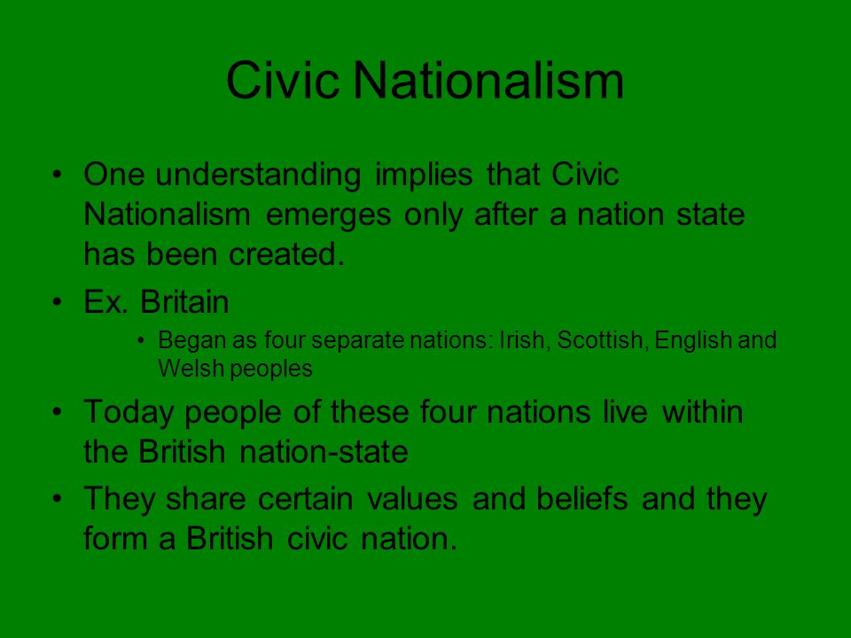 civic nationalism Post 'civic nationalism dies in a blaze of nonsense' on amerikaorg realist conservative blog.