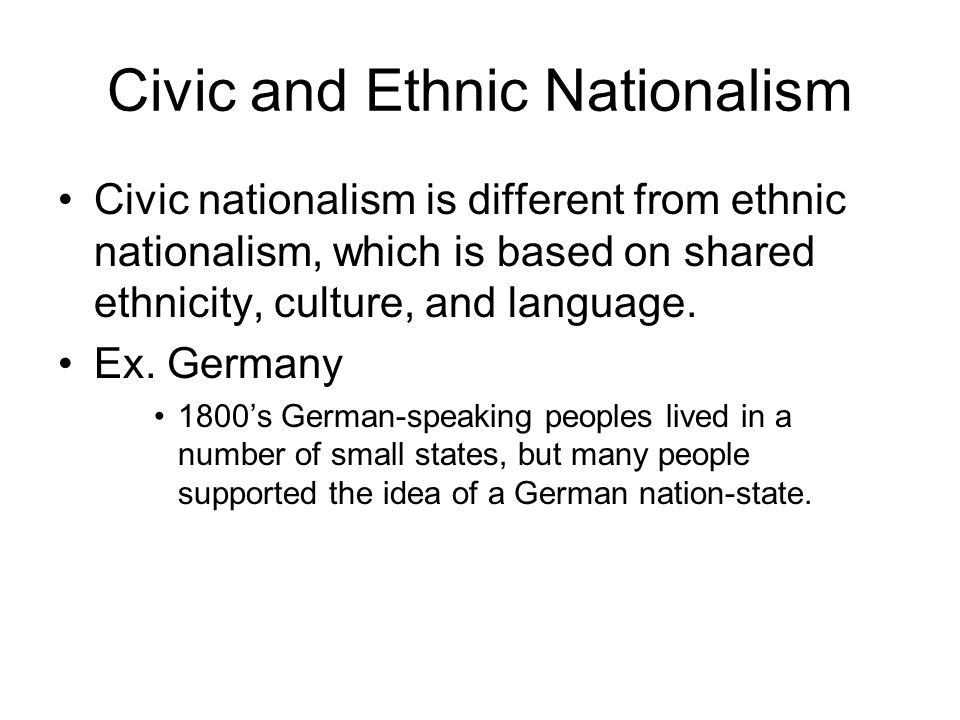 Civic and Ethnic Nationalism
