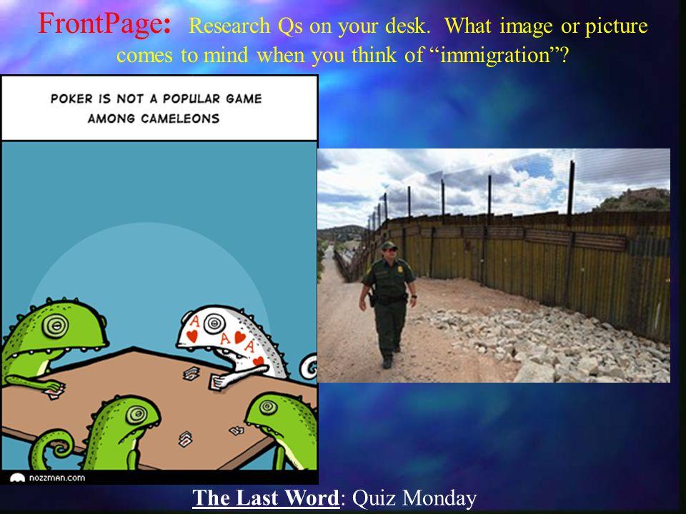 The Last Word: Quiz Monday