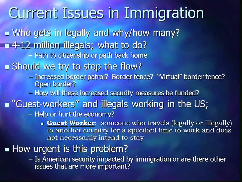 Current Issues in Immigration