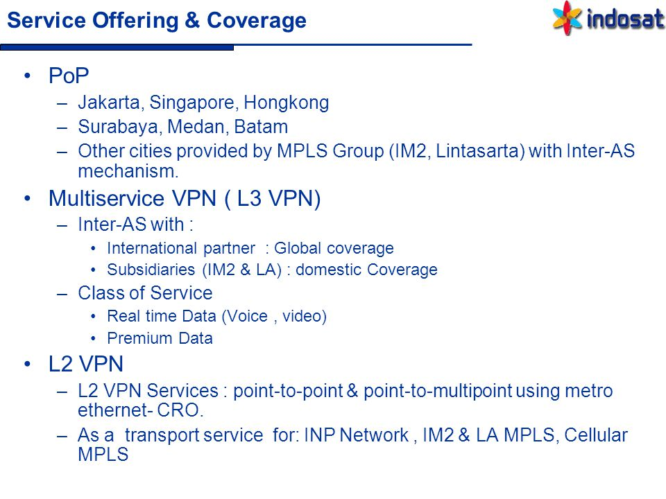 Service Offering & Coverage
