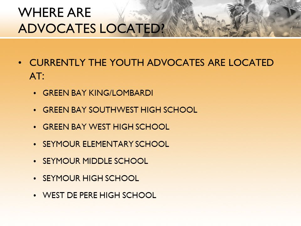 WHERE ARE ADVOCATES LOCATED