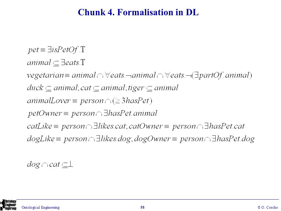 Chunk 4. Formalisation in DL