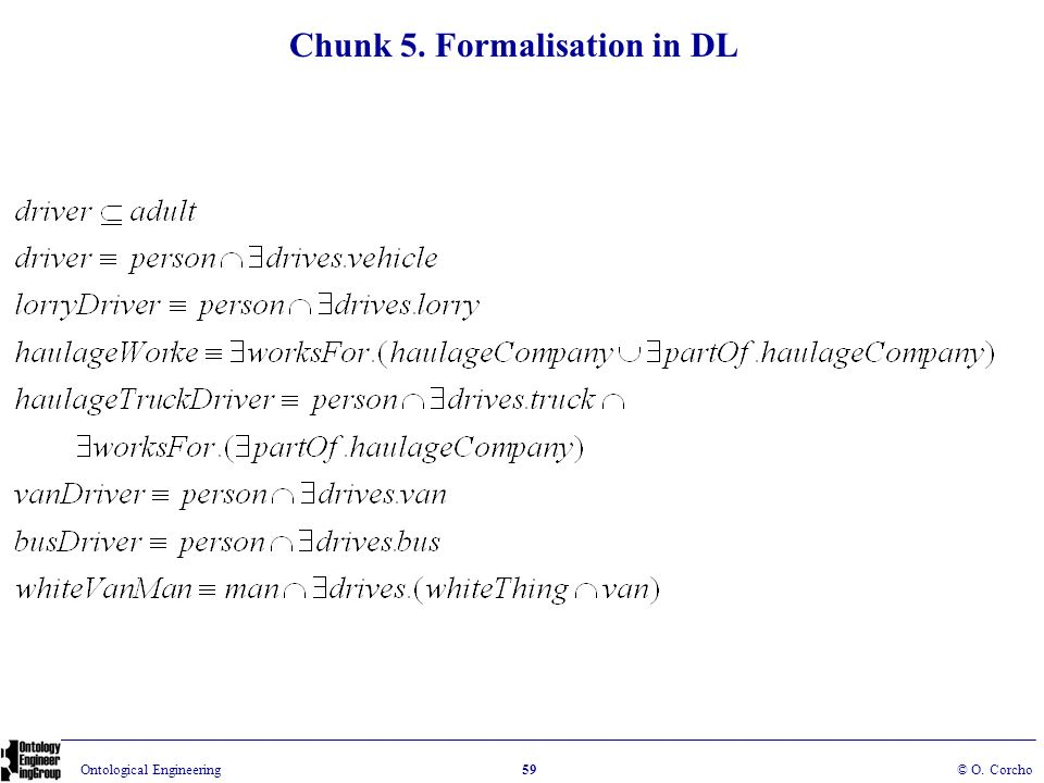 Chunk 5. Formalisation in DL