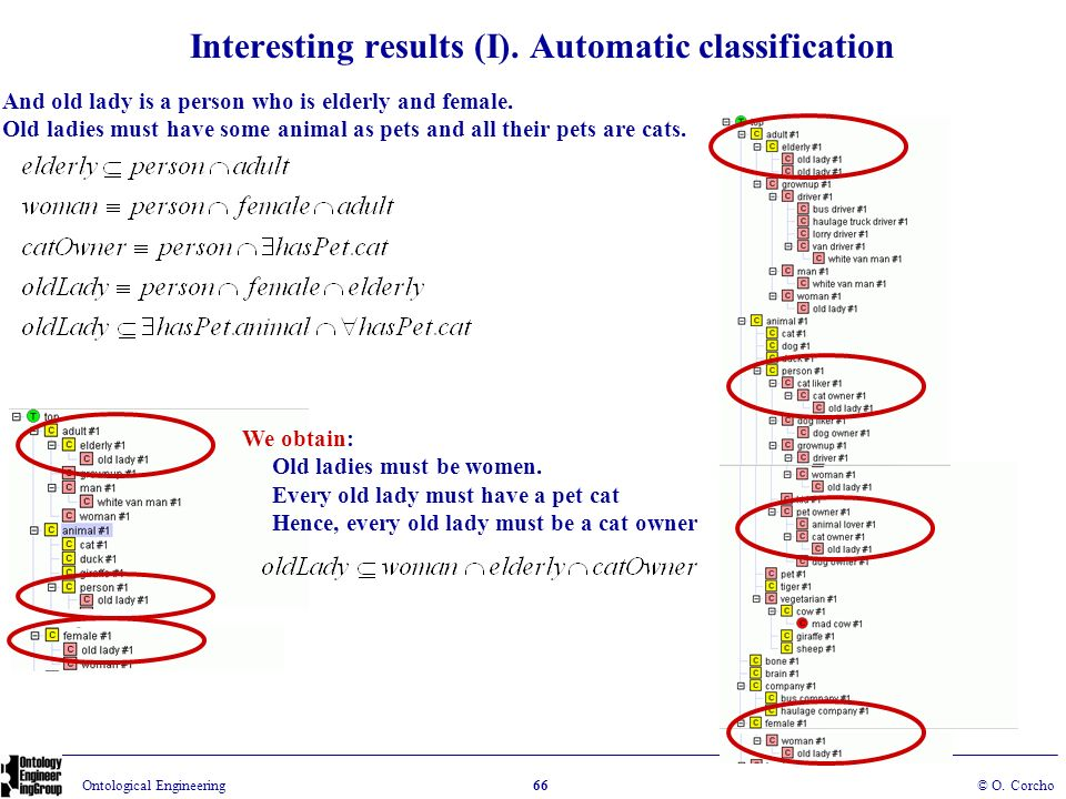 Interesting results (I). Automatic classification