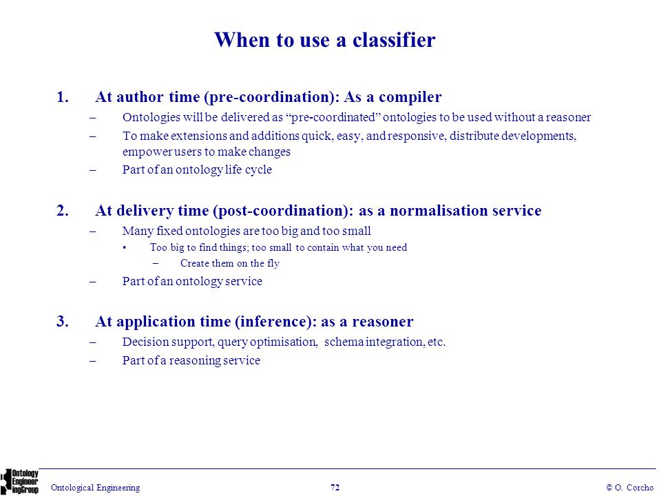When to use a classifier