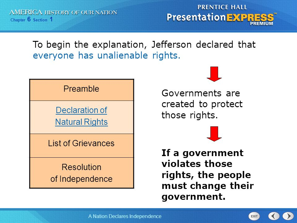 Governments are created to protect those rights.