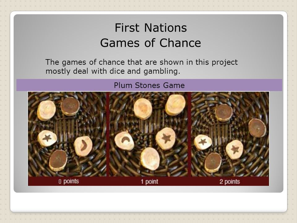 First Nations Games of Chance