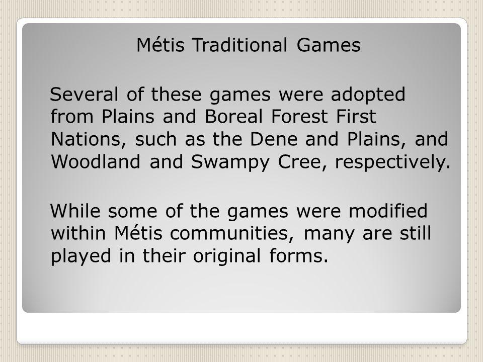 Métis Traditional Games
