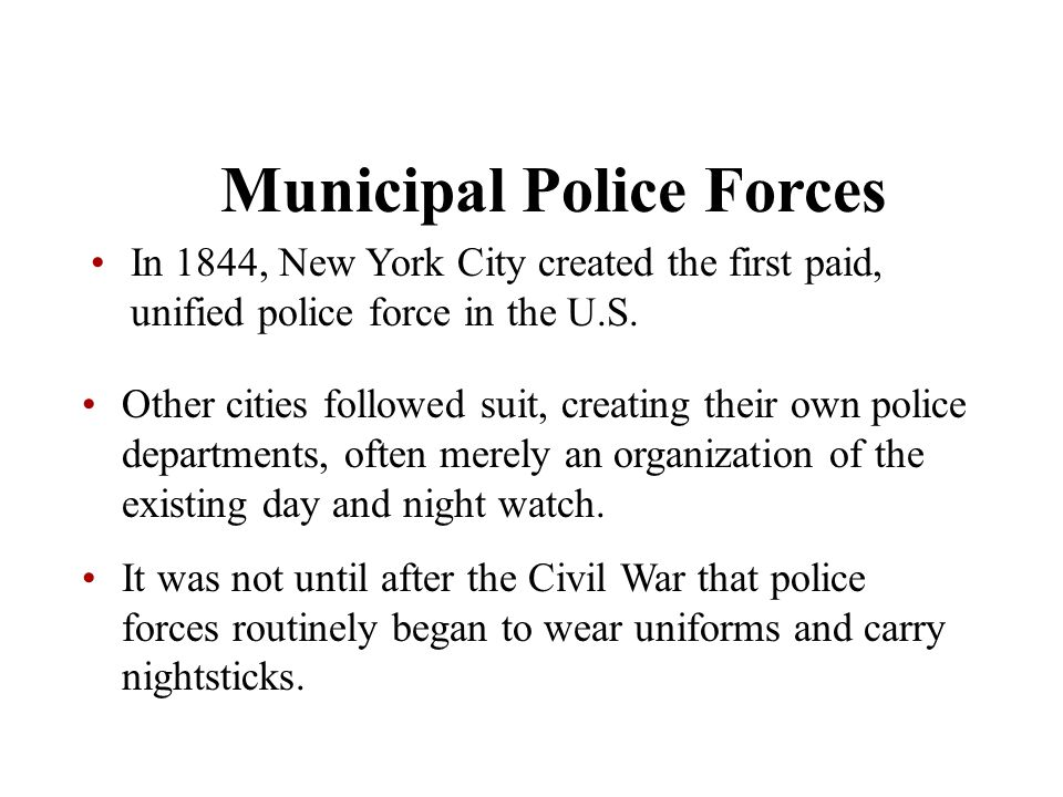 Municipal Police Forces