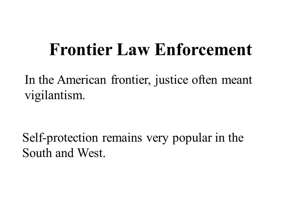 Frontier Law Enforcement