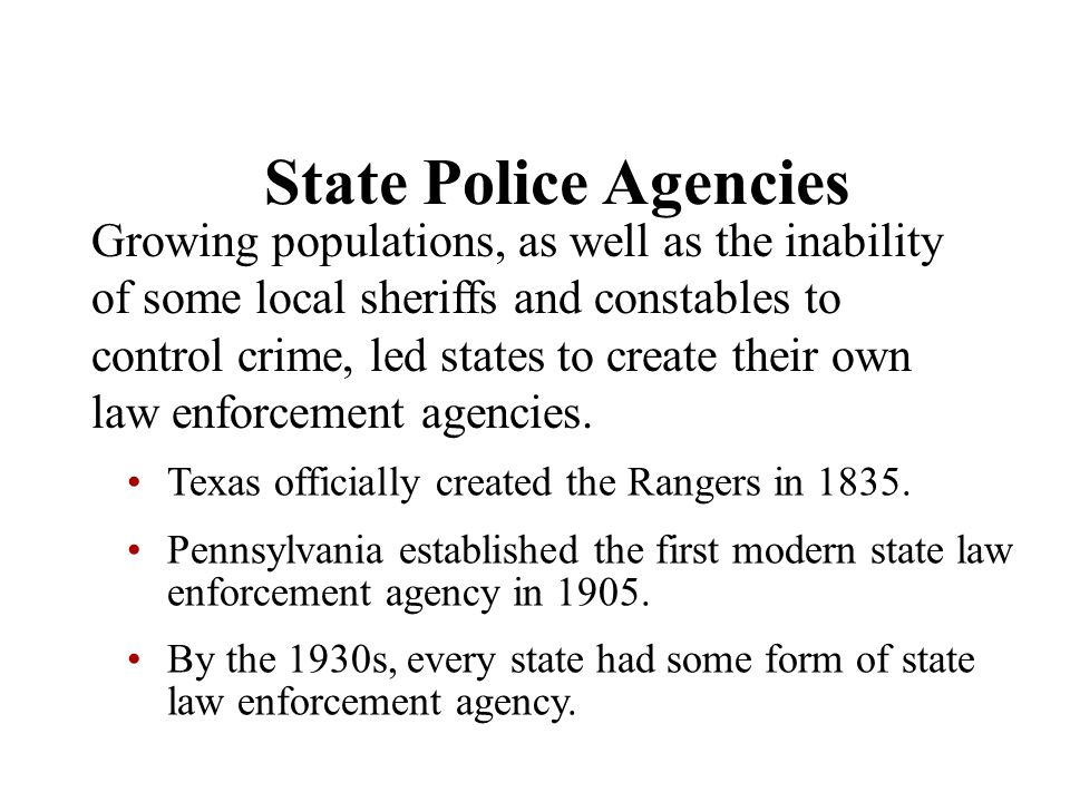 State Police Agencies
