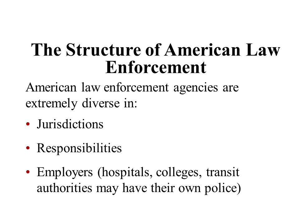 The Structure of American Law Enforcement