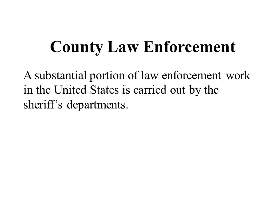 County Law Enforcement