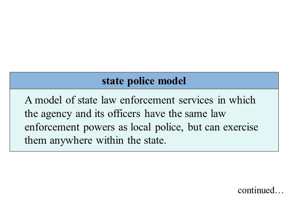 state police model