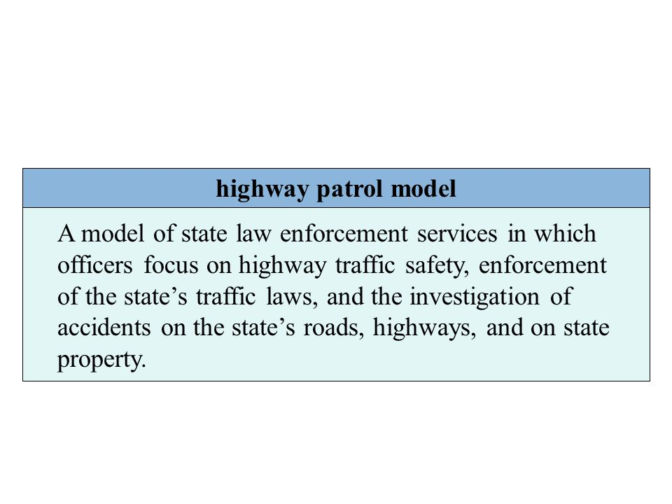highway patrol model