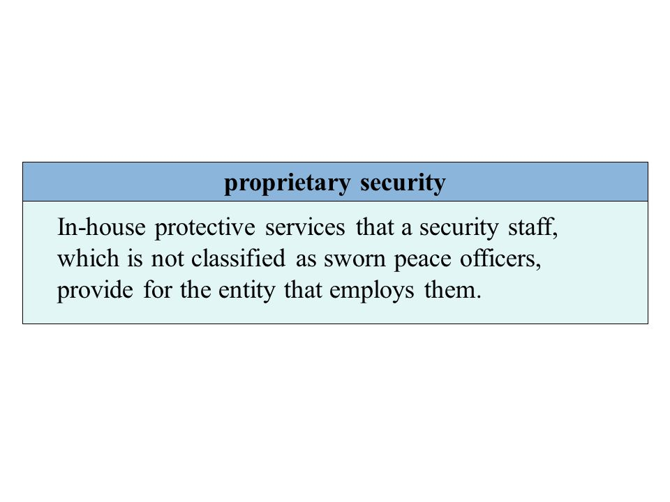 proprietary security