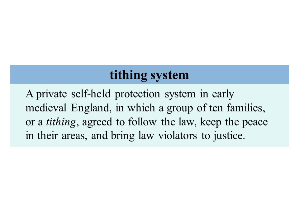 tithing system