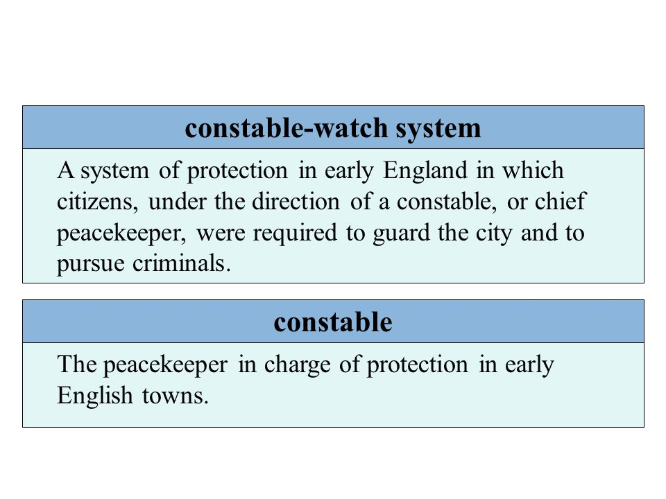 constable-watch system