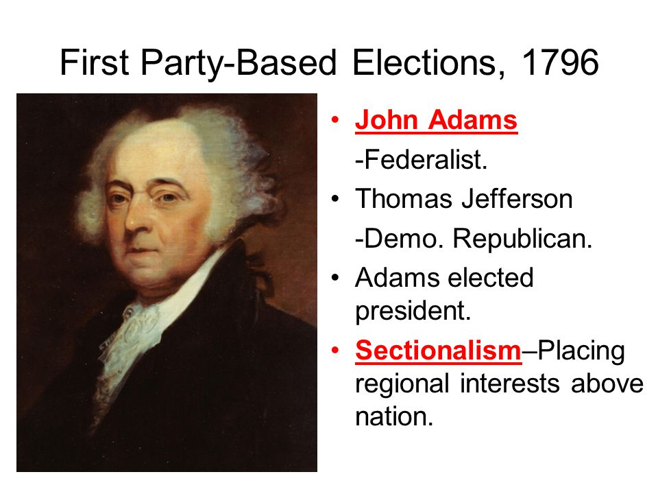 First Party-Based Elections, 1796