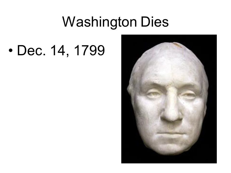 Washington Dies Dec. 14, 1799