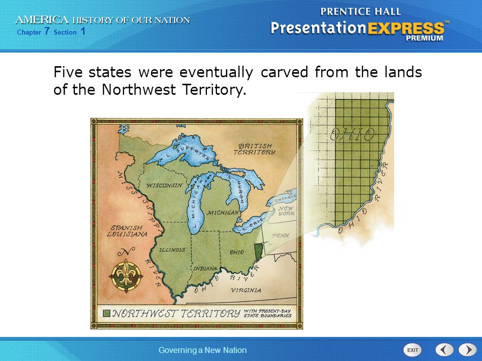 Five states were eventually carved from the lands of the Northwest Territory.