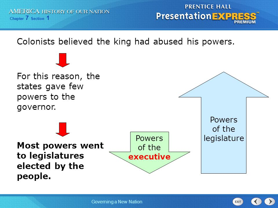 Colonists believed the king had abused his powers.