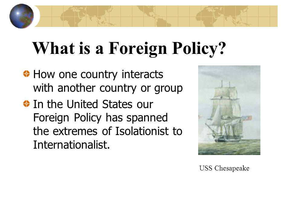 What is a Foreign Policy