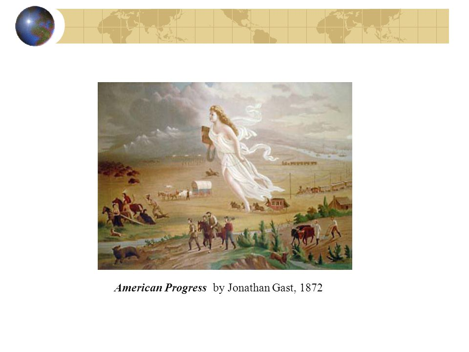 American Progress by Jonathan Gast, 1872