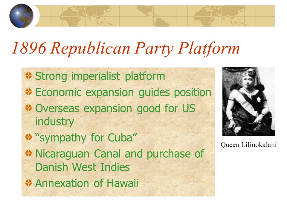 1896 Republican Party Platform