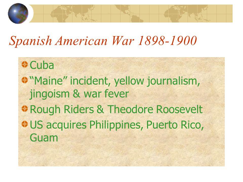Spanish American War 1898-1900 Cuba