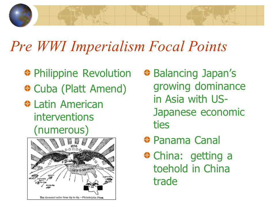 Pre WWI Imperialism Focal Points