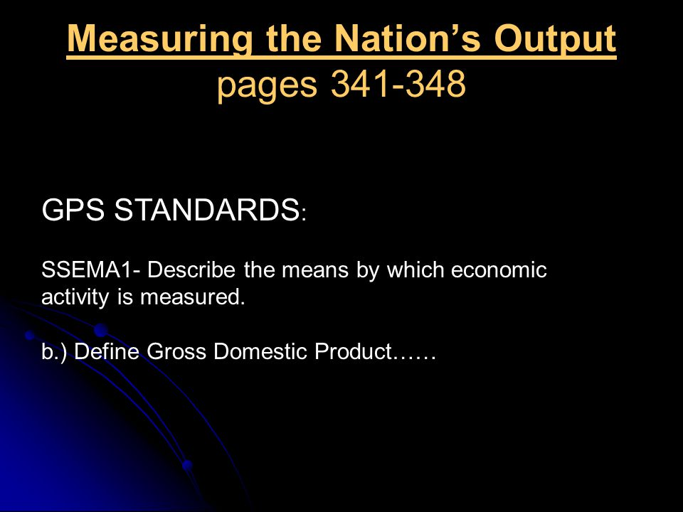 Measuring the Nation's Output pages 341-348