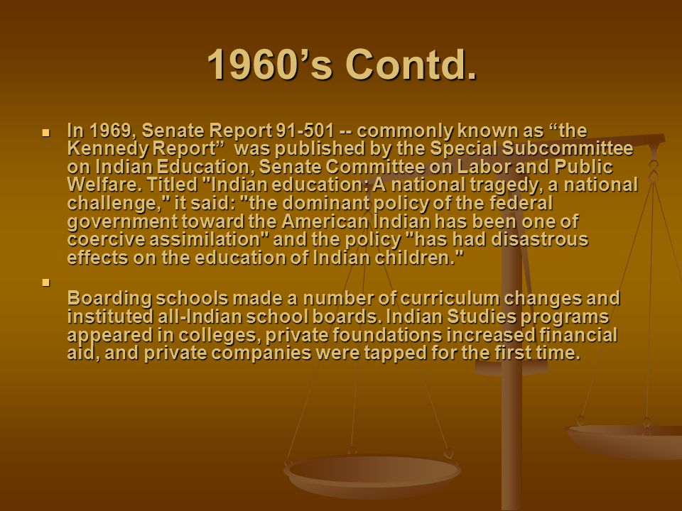1960's Contd.