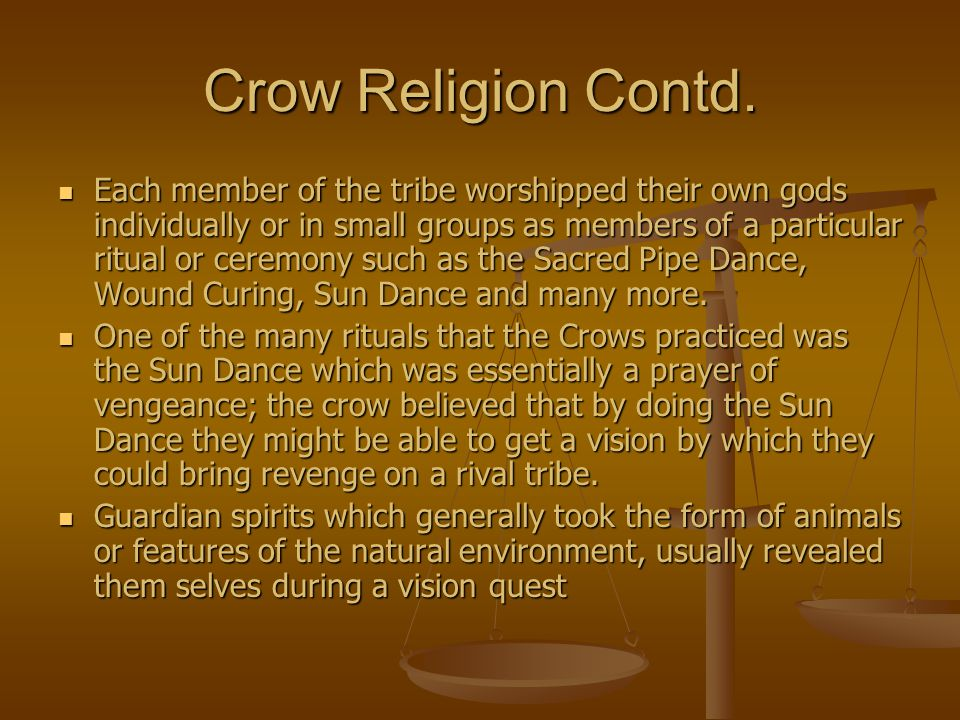 Crow Religion Contd.