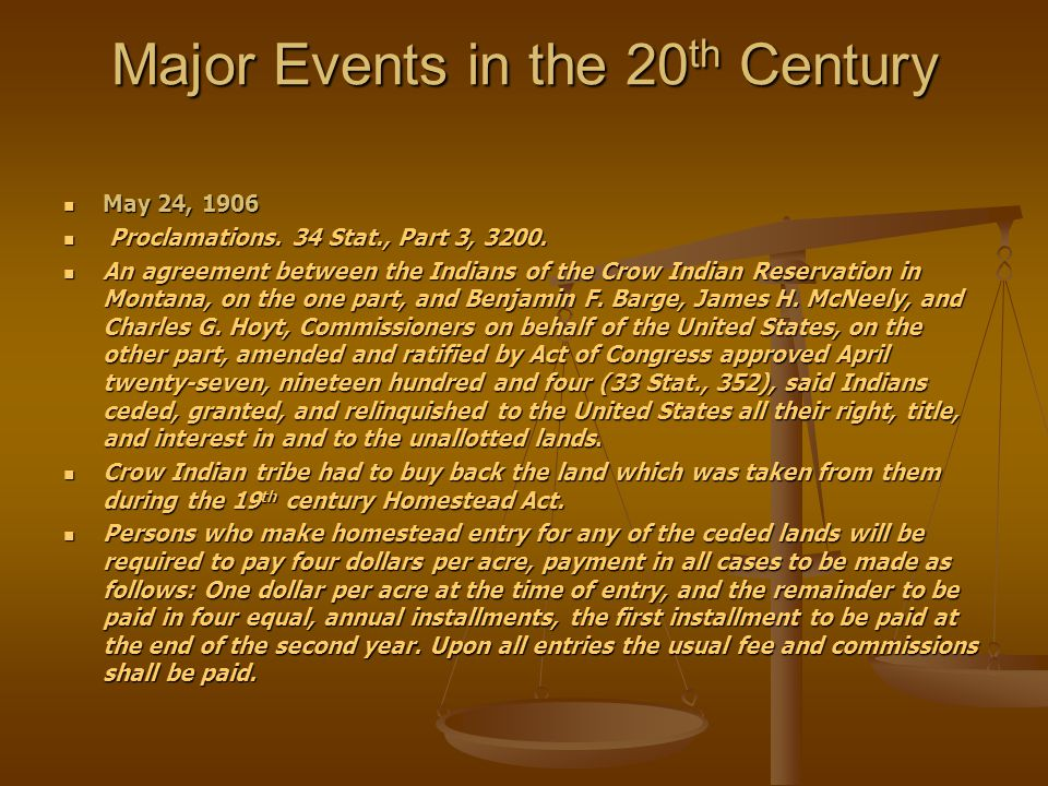 Major Events in the 20th Century
