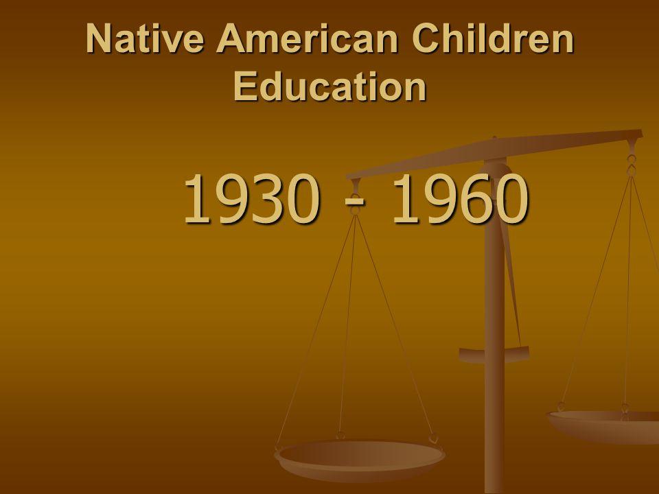 Native American Children Education