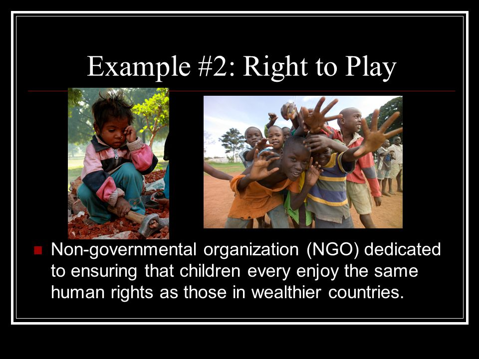 Example #2: Right to Play