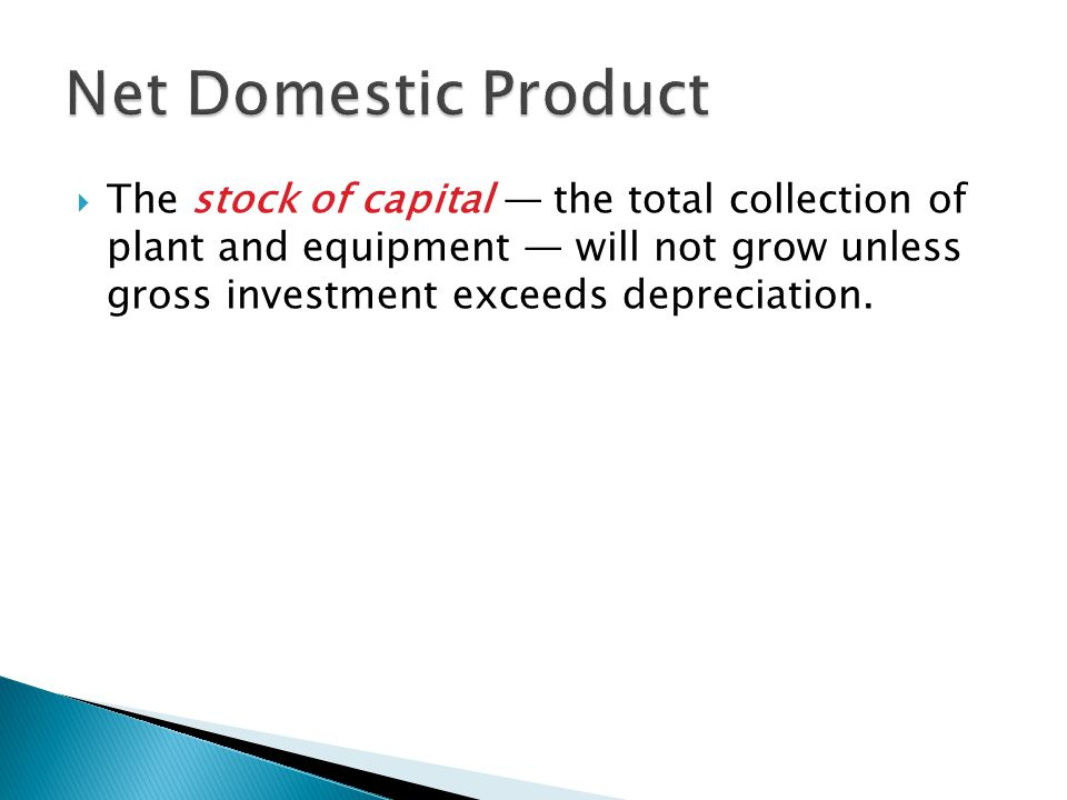Net Domestic Product