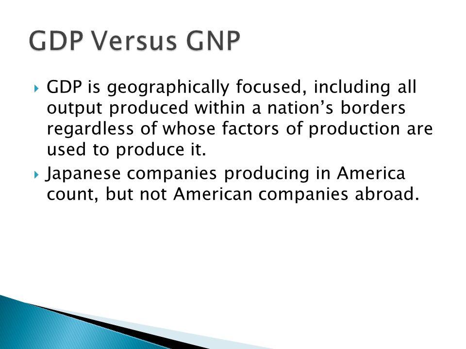 GDP Versus GNP