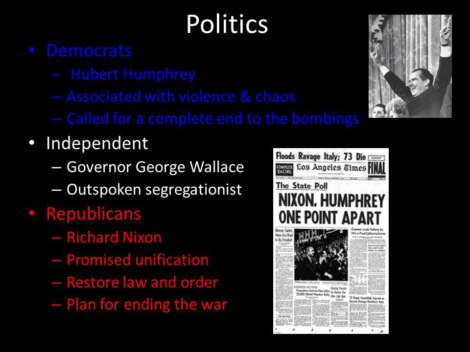 Politics Democrats Independent Republicans Hubert Humphrey