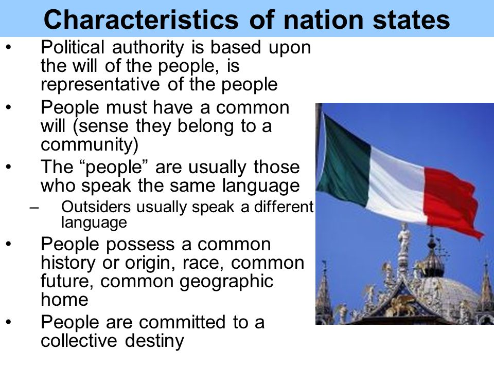 nation state A nation state is a type of state that joins the political entity of a state to the cultural entity of a nation, from which it aims to derive its political legitimacy to rule and potentially its status as a sovereign state.